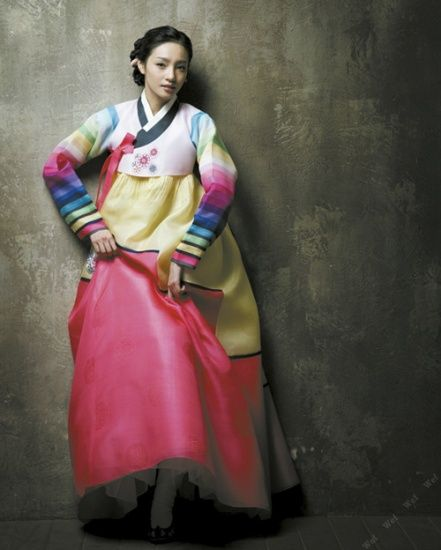 traditional korean hangbok dress