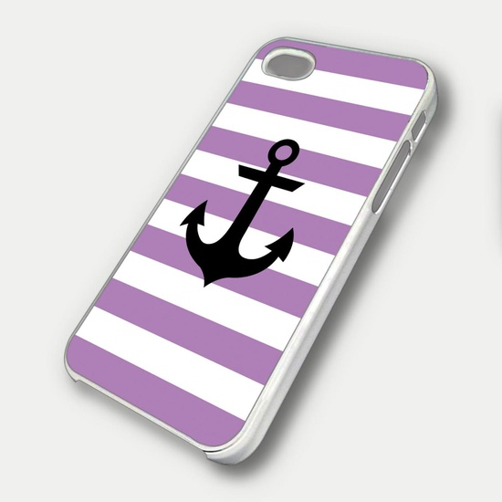 Nautical Stripes Anchor Case iPhone
