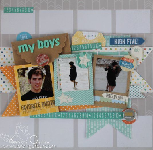 #papercraft #scrapbook #layout  My Boys - Scrapbook.com