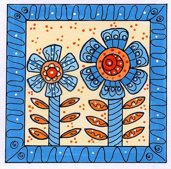 Doodle flowers by dots 'n' doodles, via Flickr