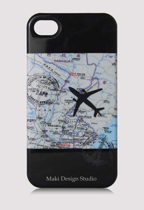 Map Stamp and Airplane iPhone Case  rstyle.me/~1c3VZ