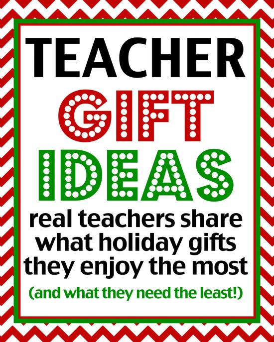 Teacher Gift Ideas - Over 50 Teachers Share What Gifts They Like at Love From The Oven