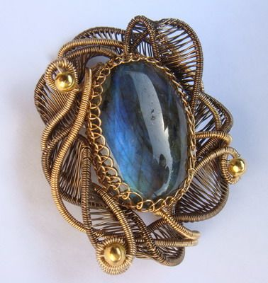 Brooch...make your own as part of this jewelry tutorial