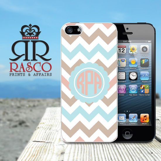 Custom iPhone Case Monogrammeded iPhone Case iPhone by RascoPrints, $14.99