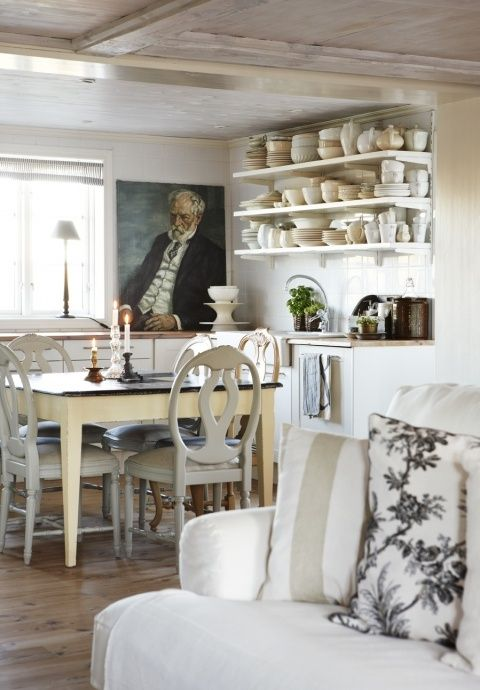 White Kitchen - ideasforho.me/... - #shabby chic #home decor #design #ideas #wedding #living room #bedroom #bathroom #kithcen #shabby chic furniture