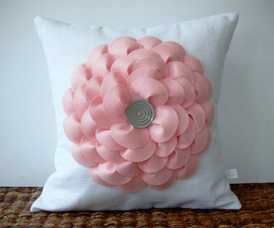 A big statement pillow can make a simple chair look great #pinparty #pillow