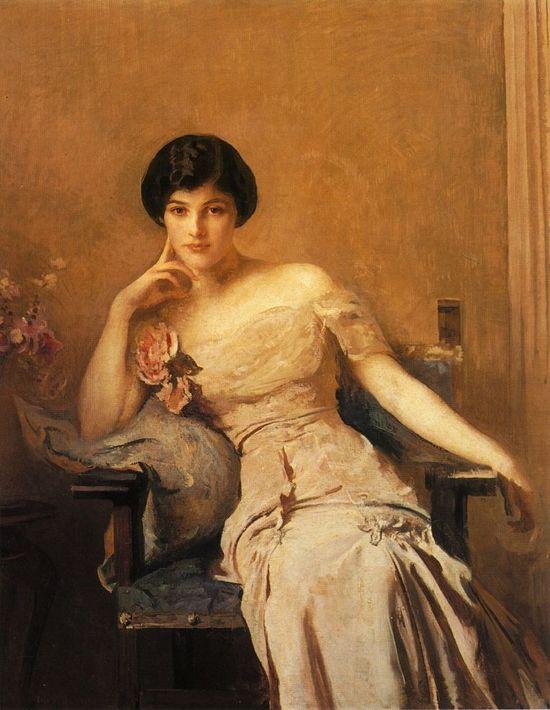 "Edmund Tarbell ""Mrs Lawrence"" 1912"
