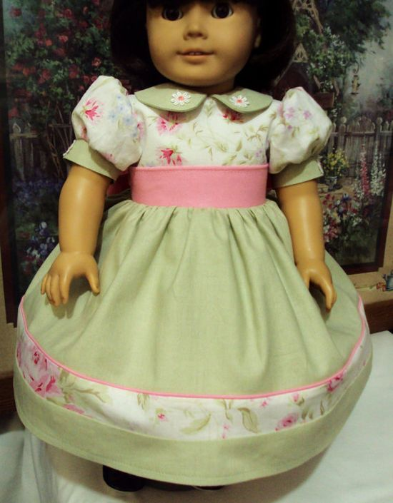 """American girl detailed dress and petticoat or fits other 18"""" dolls"""