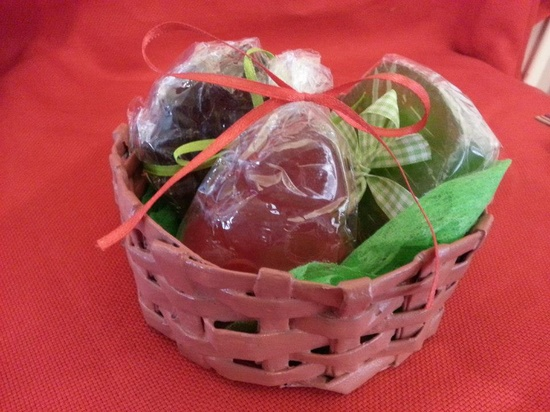 Handmade Paper Basket with soaps