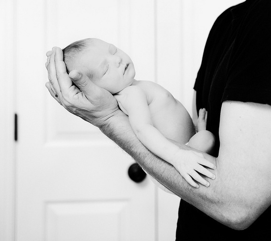 #baby #daddy #truncation #bw #newborn #love
