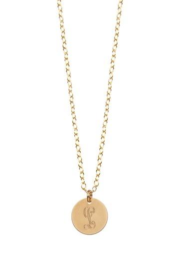 Letter L Charm Necklace.