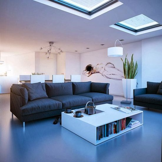 Stunning Living Room Design Ideas With Skylights