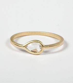 Conroy & Wilcox, Pear ring with diamond $2134