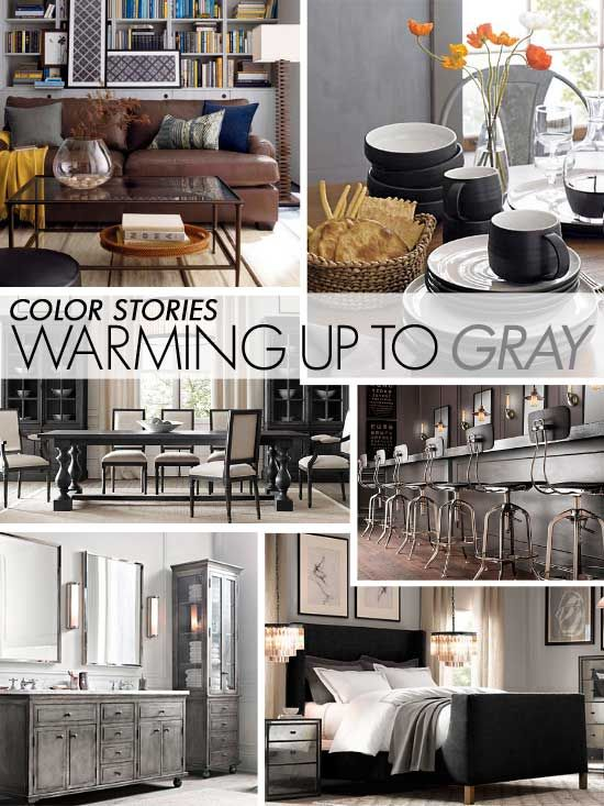 SO loving gray these days!! Great ideas for using gray for wall stencil projects here.