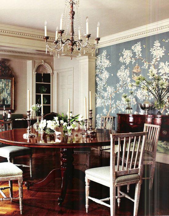 Interior design by Suzanne Rheinstein.