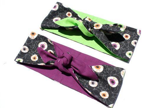 Vintage Inspired Head Scarf Eyeballs Purple or by OhHoneyHush, $19.00