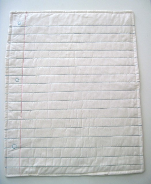 Baby quilt in the style of a piece of paper. Easy and simple!