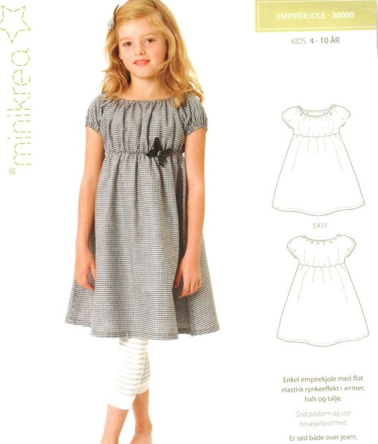 Lovely peasant dress pattern. So simple and pretty.