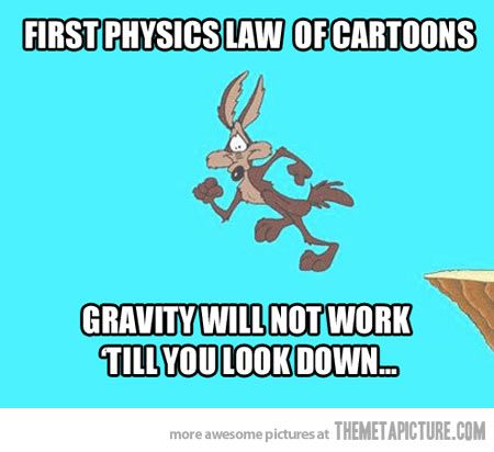 Physics laws in cartoons...