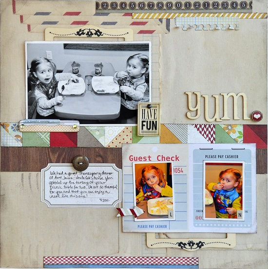 #papercraft #scrapbook #layout Yum. ~Basic Grey~ - Scrapbook.com