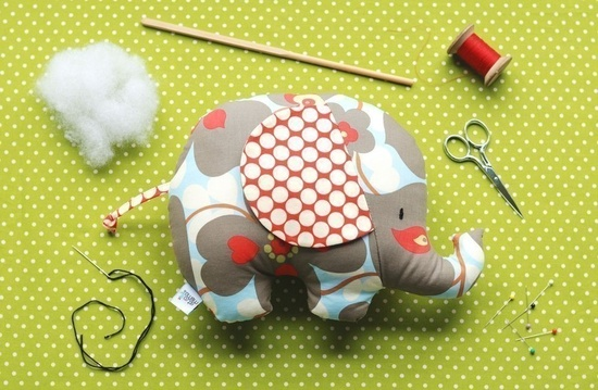 Baby Toy Tutorial - Elephant Sewing Pattern - Soft Toy - Tilly and Tommy Elephant Softies. $8.00, via Etsy.