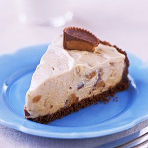 This five-ingredient pie recipe tastes like peanut butter ice cream mixed with chopped peanut butter cups. Need a make-ahead dessert? You can keep it in your freezer, tightly covered, for several days.