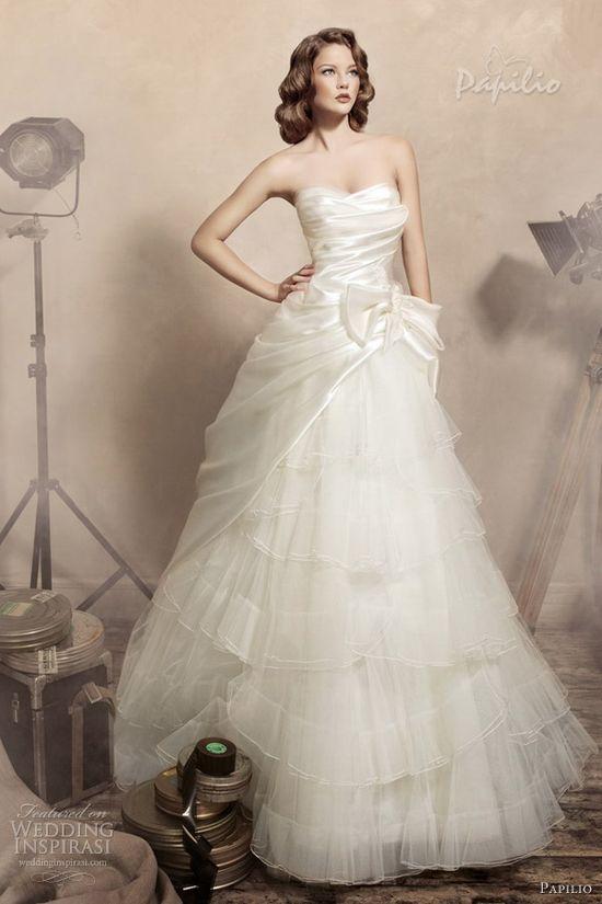 papilio wedding dresses 2013 julietta strapless ball gown