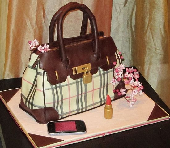 burberry purse cake