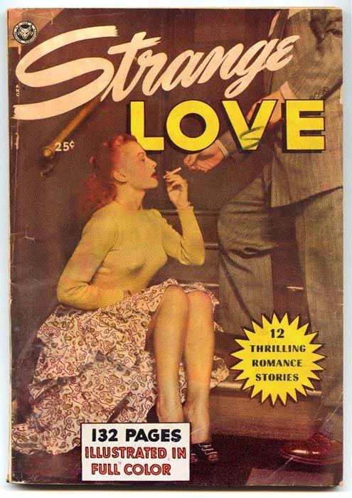 Strange Love, comic book cover (1950)  Source: Samuels Design