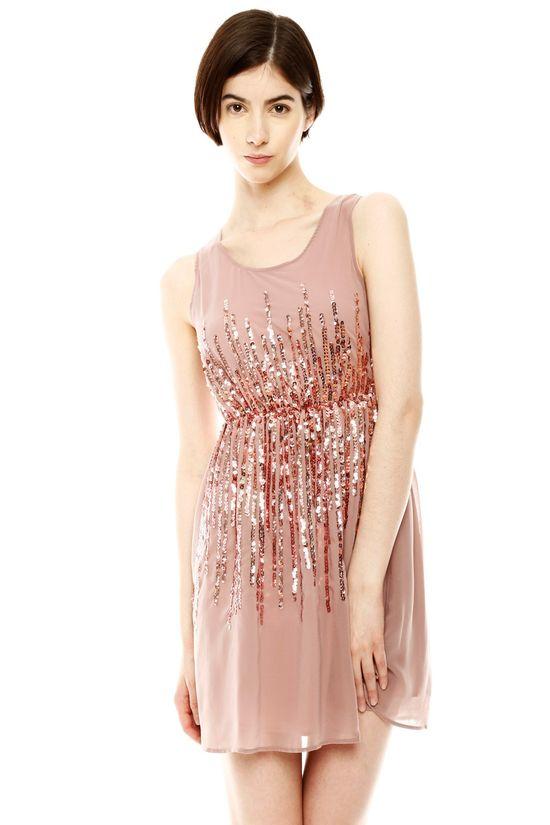 Sequin Detail Party Dress//