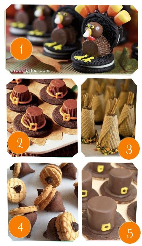 Thanksgiving treats - easy to make - Click image to find more Holidays  Events Pinterest pins