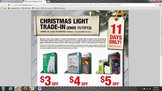 Home Depot Light Trade-in Event