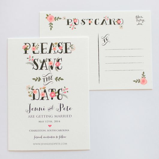 Catherine Save The Date Set of 50