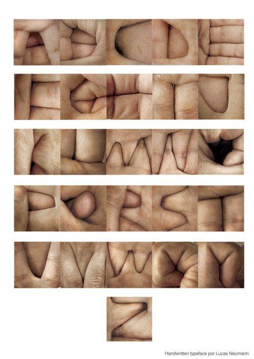 hand typeface.