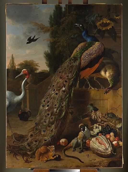 Melchior d' Hondecoeter (Dutch, 1636–1695). Peacocks, 1683. The Metropolitan Museum of Art, New York. Gift of Samuel H. Kress, 1927 (27.250.1) #peacock