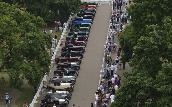 Aston Martin, the British sports car maker, celebrated 100 years in business with a display of cars in Kensington Gardens on Sunday July 21 - 100 Years of Aston Martin at Kensington Gardens