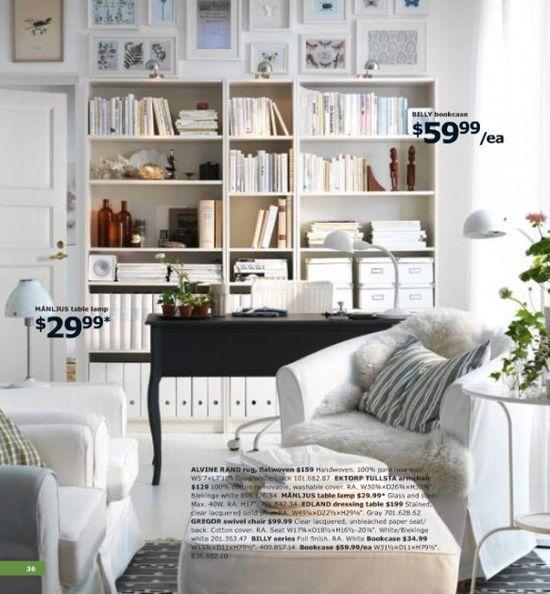 IKEA Office Shelving for loft space