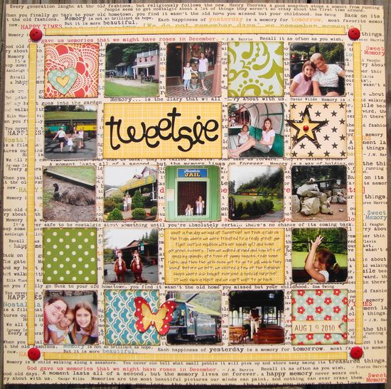 Tweetsie - Scrapbook.com - love the layout!  www.scrapbook.com...