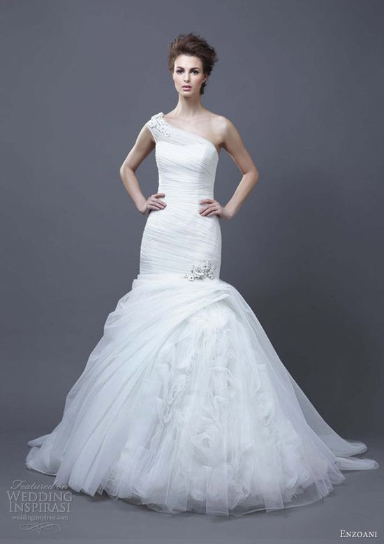 enzoani wedding dresses 2013 hadara one shoulder gown