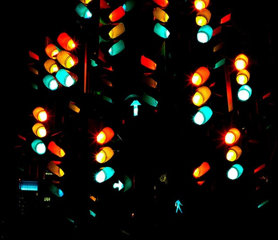 traffic light tree / abby chicken photography