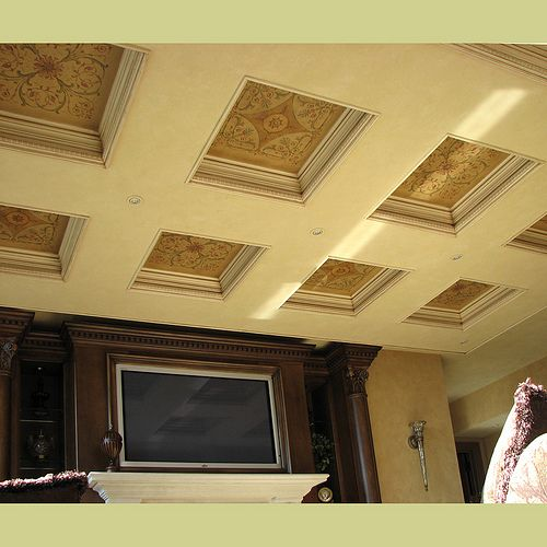 Stencils for Coffered Ceiling. Wall and ceiling stencils by www.cuttingedgest... by cuttingedgestencils, via Flickr