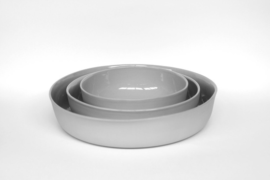 nesting bowl large - porcelain (concrete colour). $69.00, via Etsy.