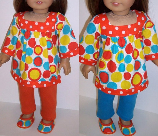 American Girl/18 Doll Bubbles Blouse by erinslittlesecrets on Etsy
