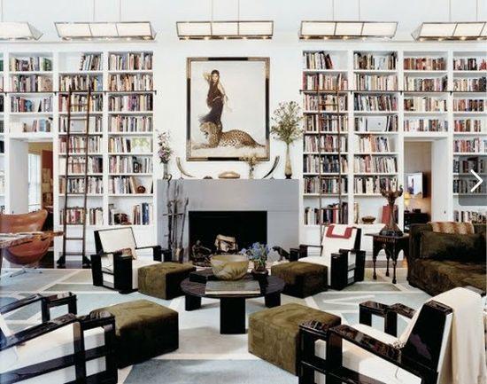 #house #home #decor #interiors #livingroom #library #art #leopard