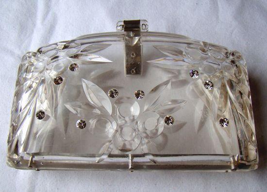 1950's Perspex Clutch Bag