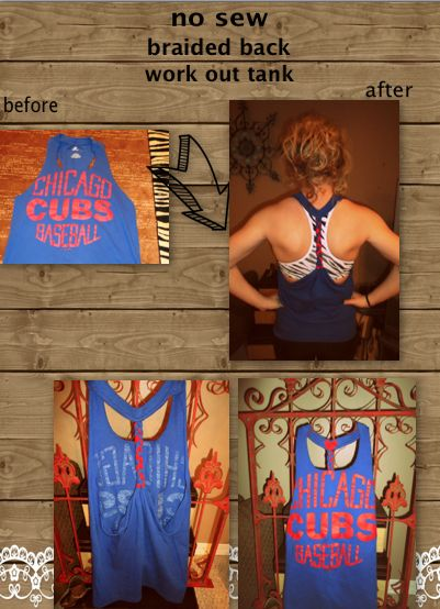 DIY no sew workout tank #DIY