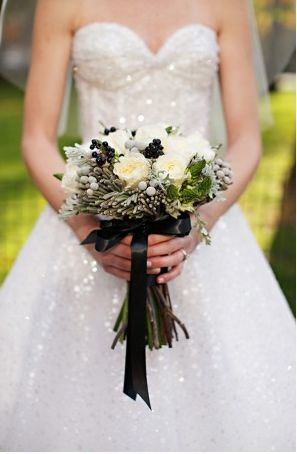 black and white bouquet...