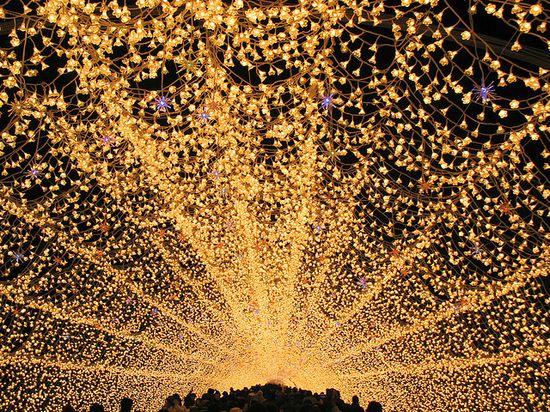 Winter light display at Nabana no Sato, Nagashima, Japan