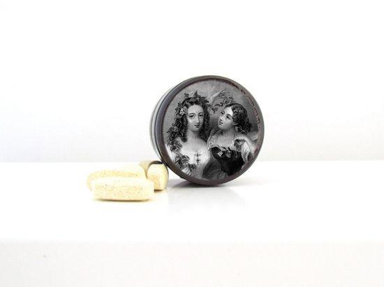 Beautiful Women Pill Box  - Romantic Wedding Ring Box - Beautiful Sisters Non Toxic Vitamin Box, $8.95