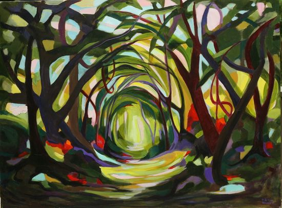 "Saatchi Online Artist: Charlotte Hutson Wrenn; Acrylic, 2012, Painting ""Island Path"" #art"